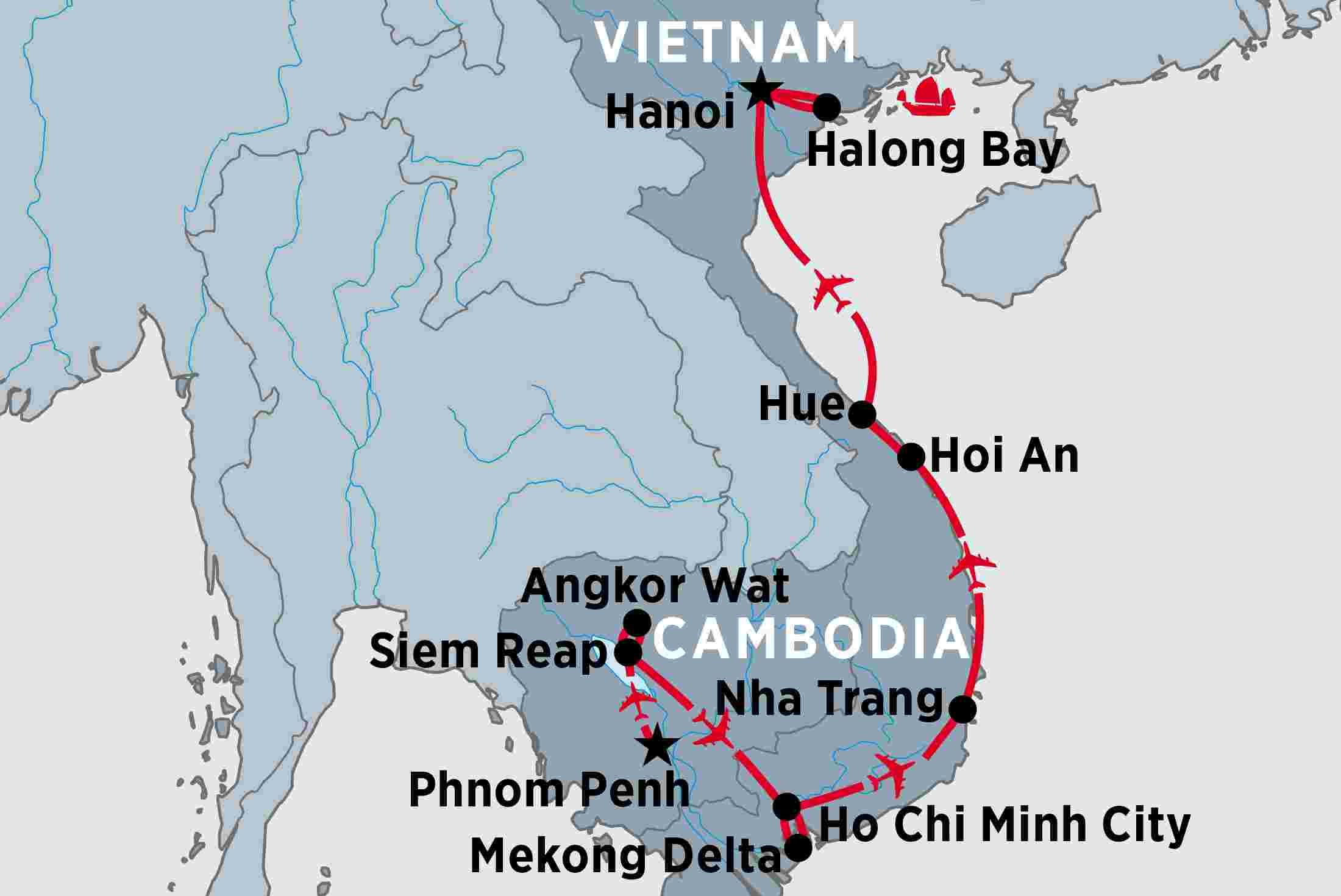Nha Trang Vietnam Map.Jewels Of Indochina Peregrine Adventures Nz