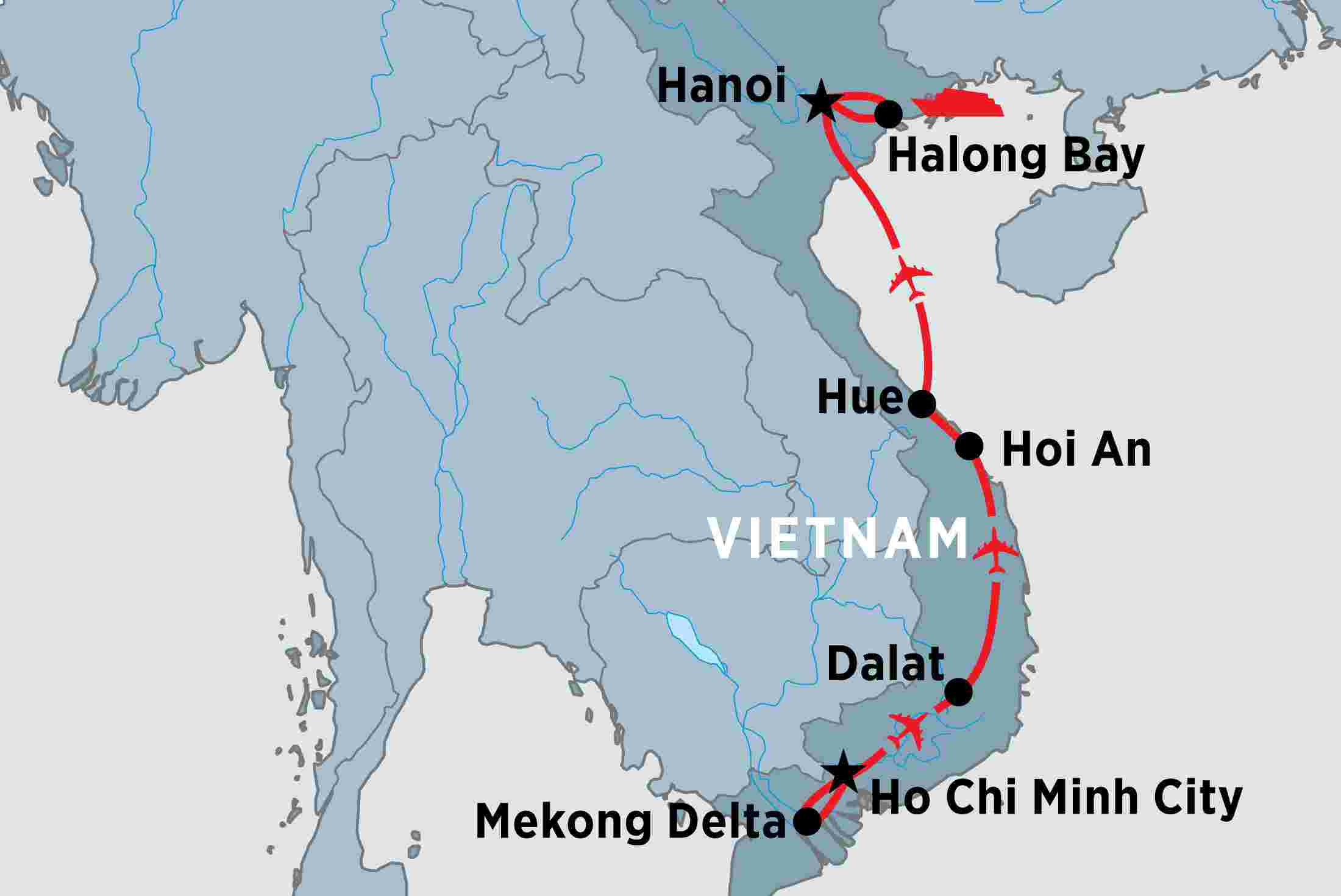 Image result for vietnam to dalat maps