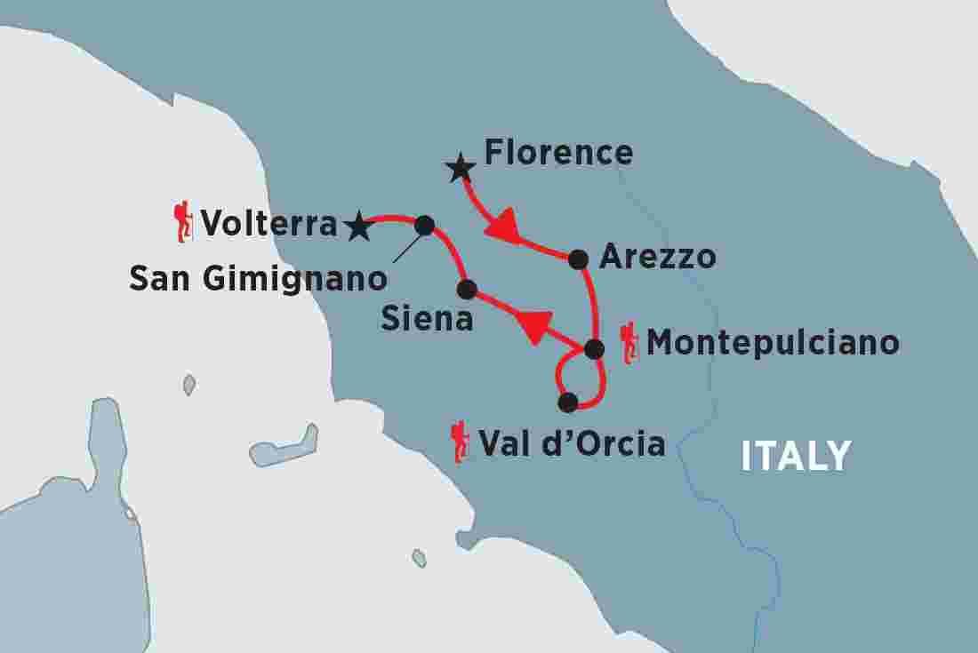 Walking in Italy: Tuscany   Peregrine Adventures AU