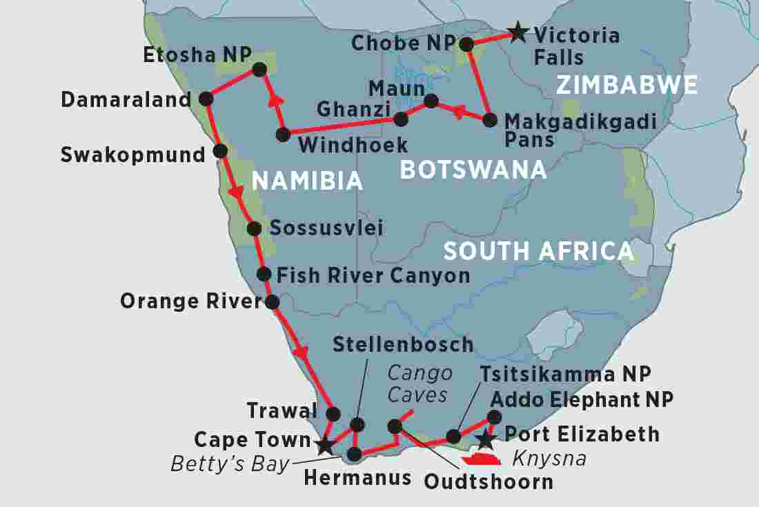 Namibia On Africa Map.Namibia Tours Travel Trips Peregrine Adventures Nz