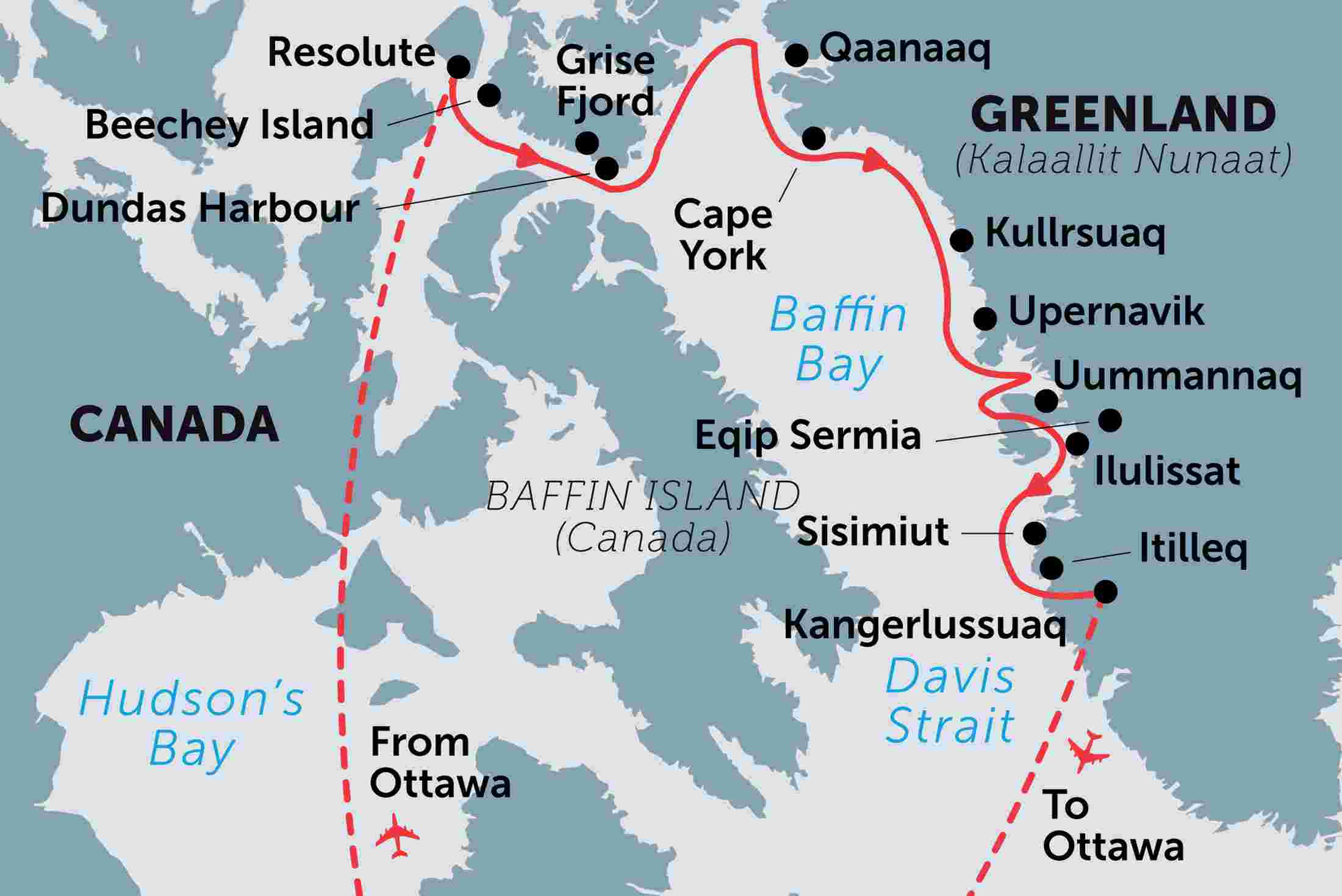 Map Of Canada Davis Strait.Northwest Passage High Arctic Villages And Icebergs Overview Northwest Passage High Arctic Villages And Icebergs